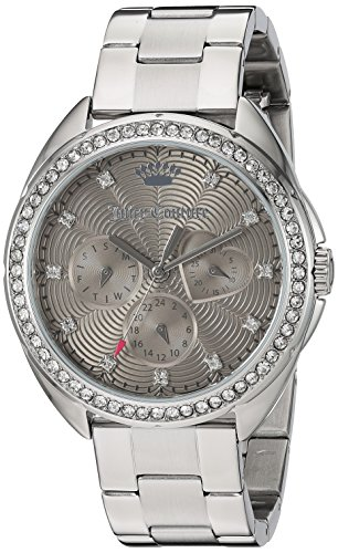 Juicy Couture Women's 'Capri' Quartz Stainless Steel Automatic Watch, Color:Silver-Toned (Model: (Movado Automatic Watch)