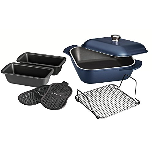 Tramontina 80142/201DS LYON Cold-Forged Induction-Ready Aluminum with Ceramic-Reinforced Nonstick Multi-Cooking System,7 PC, Sapphire, Made in Brazil