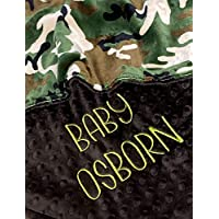 Camo blanket, Personalized Baby Blanket, Camouflage Baby Blanket, baby shower gift, Double Minky Plush baby blanket, Military Gift