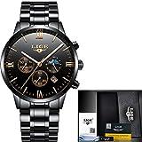 HWCOO Relojes mecánicos LIGE hombres correa tendencia de la moda de moda casual reloj de cuarzo resistente al agua negocios reloj deportivo (Color : 1)