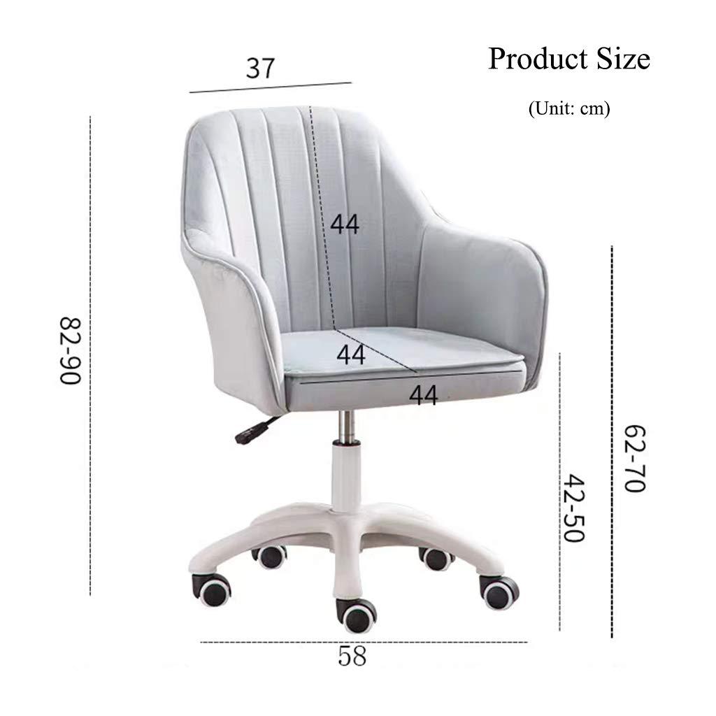YLMF Ergonomisk kontorsstol flanell ryggstöd och hög densitet återstuds svamp kudde justerbar höjd och fixerat armstöd hem kontor skrivbordsstol BLÅ