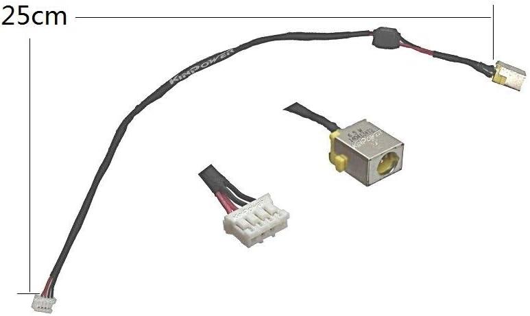 KINPOWER DC Jack Connecteur Alimentation pour Acer Travelmate P253-E P253-M Bleu