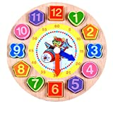Hisoul Educational Wooden Toys Kids Favorite Cartoon Animal Wooden Beaded Digital Clock - Best...
