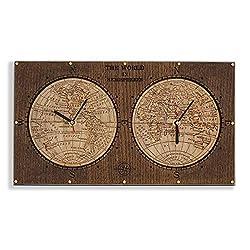 World Hemispheres decorative wooden , wall art, vintage travel world map, unique personalized gift