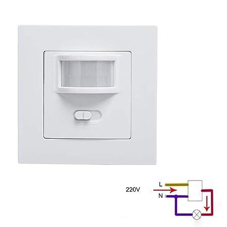Majome Interruptor de Sensor de Movimiento infrarrojo PIR de ...