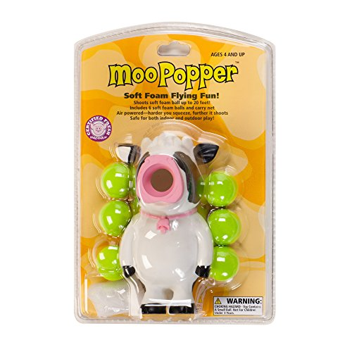 Hog Wild Cow Popper Toy - Shoot Foam Balls Up to 20 Feet - 6 Balls Included - Age 4+ from Hog Wild