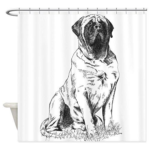 tting Decorative Fabric Shower Curtain (69