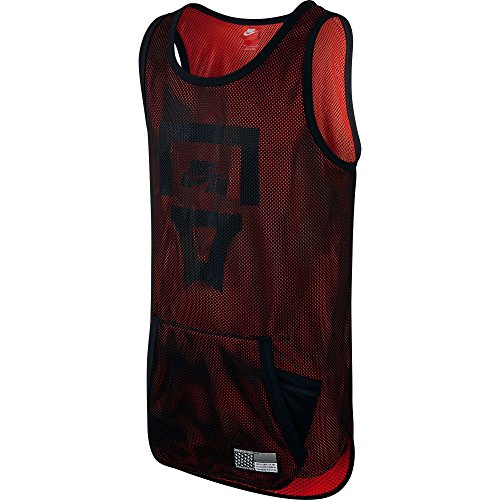 Nike Air Pivot Mesh Men's Jersey Tank Top Black/Light Crimson 743286-011 (Size M)