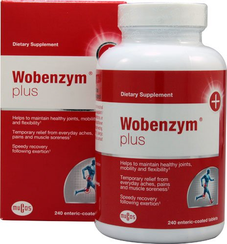 Wobenzym Plus -- 240 Enteric Coated Tablets - 2PC by Wobenzym