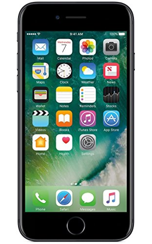 Apple iPhone 7 128GB Unlocked GSM Water Resistant Quad-Core Smartphone w/ 12MP Camera - US Version (Jet Black)