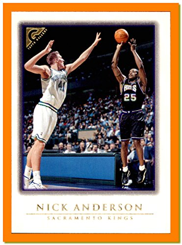(1999-00 Topps Gallery #21 Nick Anderson SACRAMENTO KINGS Dirk Nowitzki MAVERICKS defending )