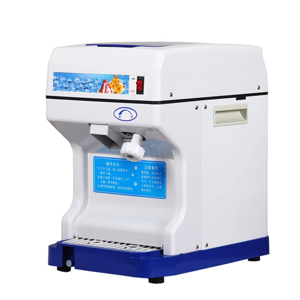 CGOLDENWALL Commercial Automatic Ice Shaver Ice Crusher Stainless Steel Electric Ice Chopper Smoothies Machine Ice Crushing Machine