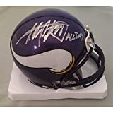 Adrian Peterson Autographed Minnesota Vikings Signed Football Mini Helmet ALL DAY