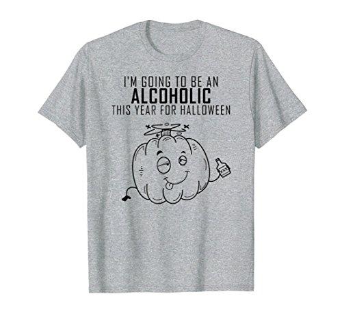 Alcoholic Costume For Halloween Drunken Pumpkin T-Shirt -