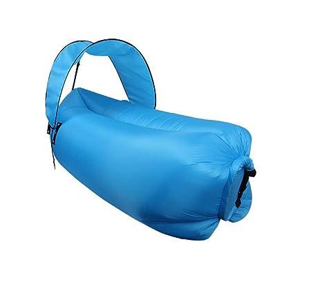 FangYOU1314 Viaje al Aire Libre Perezoso Inflable sofá sombrilla Plegable Saco de Dormir de Aire durmiendo