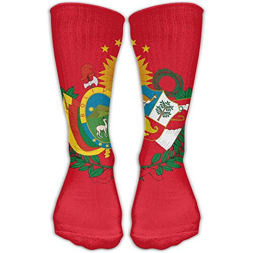 78 Bolivian Finish - Design Flag Of The Peru Bolivian Confederation Stylish Art Knee High Socks For Women &Girl