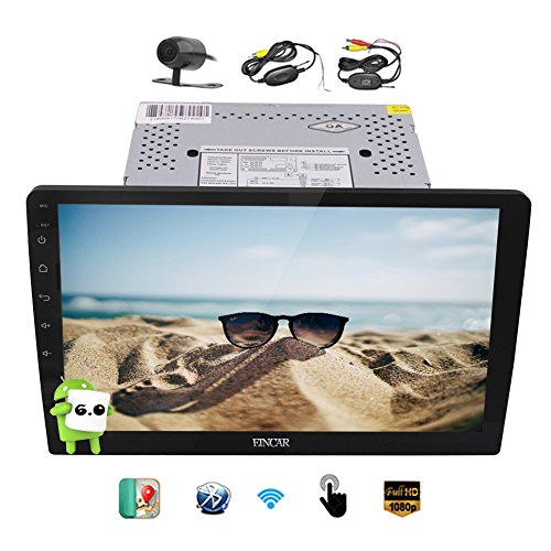 Android 6.0 Car Stereo with Quad Core Double Din 10.1'' Large Detachable Capacitive Touch Screen Headunit In Dash GPS Navigation Car Radio Entertainment System Support BT/WiFi/1080P Wireless Camera