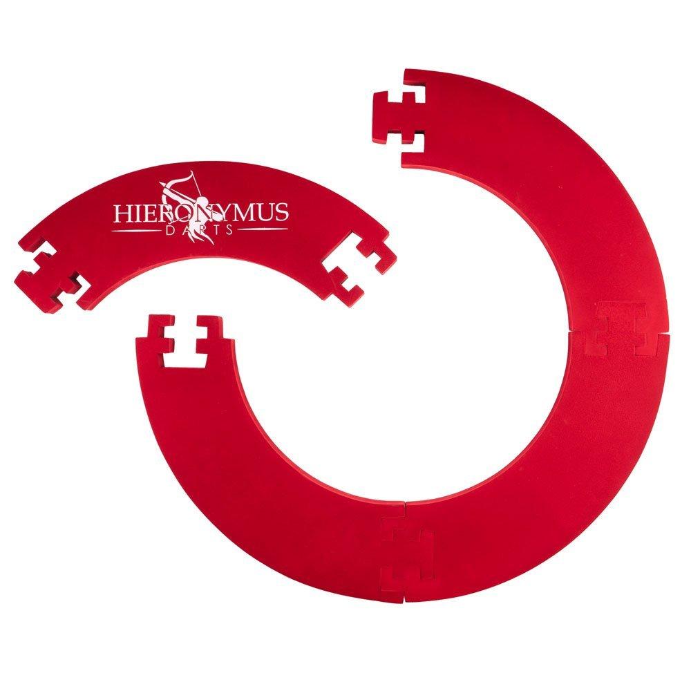 Hieronymus Darts Surround– Dart Auffang-Ring Hochwertige Stabile Umrandung – Wandschutz für Dartboards – in Schwarz/Rot