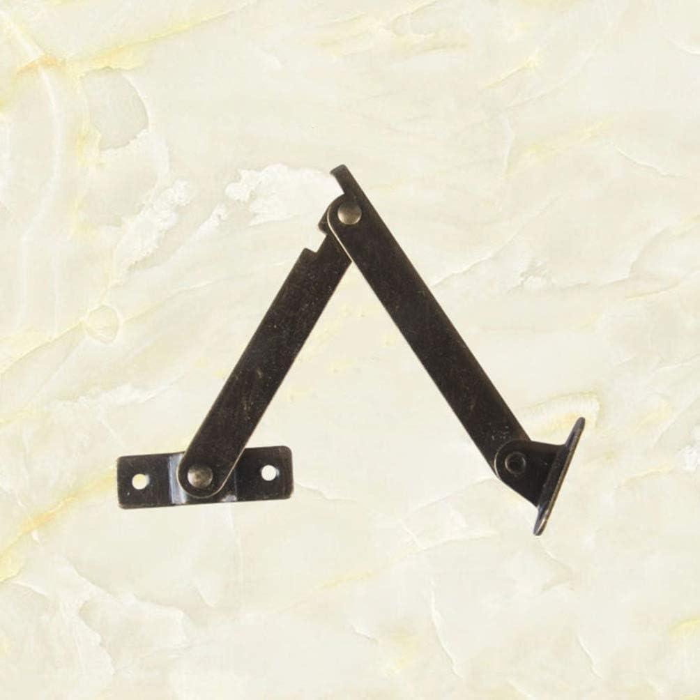 BESPORTBLE 2 Piezas Bisagra de Soporte de Tapa Giratoria Bisagras de Gabinete Bisagras Plegables para Gabinetes de Cocina Caja de Metal