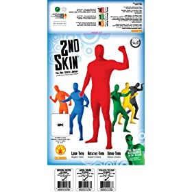 - 51wb4cEGc9L - Rubie's Adult Solid Color 2nd Skin, Red, X-Large