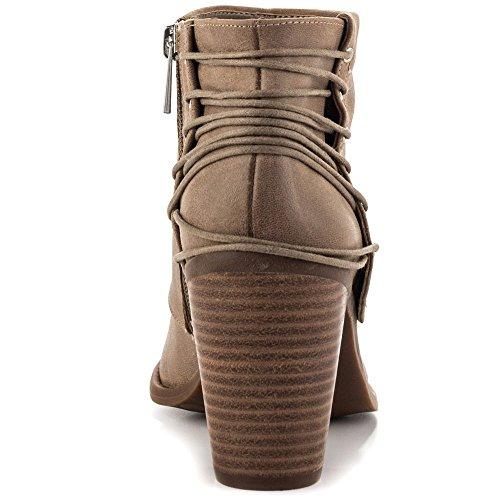 Jessica Simpson Frauen Caysy Geschlossener Zeh Leder Fashion Stiefel Slater Taupe