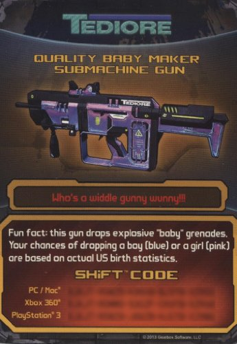 borderlands 2 infinity pistol shift code