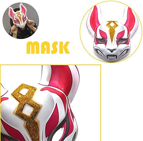 Lywhome 3Pcs Máscara De Halloween Mascarilla Fox Full Face PVC ...