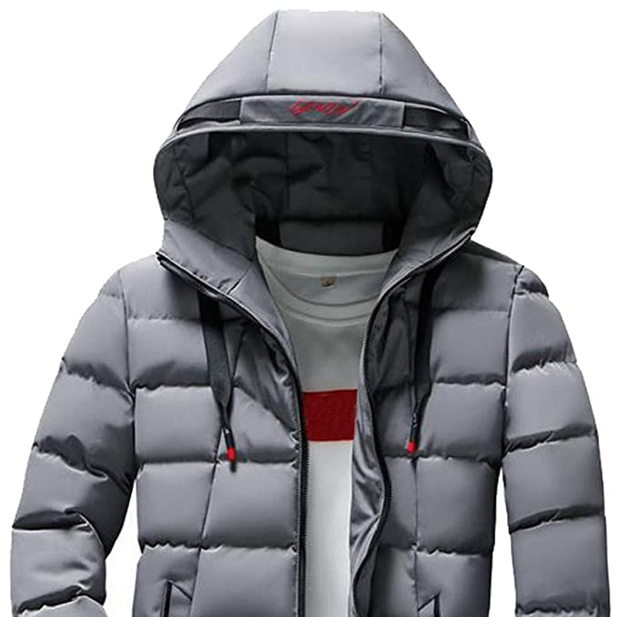 Clearance Forthery Mens Down Jacket Puffer Coat Thicken Packable Warm Winter with Hood