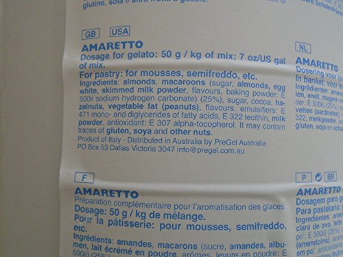 PreGel Amaretto Traditional Paste (Chocolate Almond Liqueur) GELATO PASTE 50002 13.2lb by PreGel (Image #4)