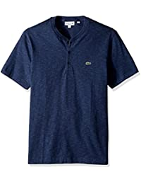 Men's Short Sleeve Plain Slubbed Jersey Tee with Textured Effect