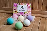 Bath Bombs Gift Set - Natural Organic Lush Bubble