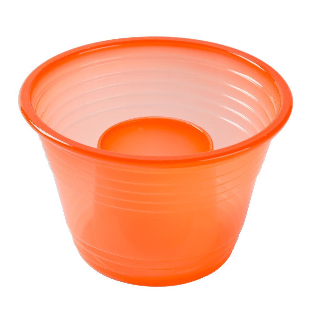 Quenchers Fineline Neon Orange Blaster Bomb Shot Cups/Power Bombs, CASE of 500 w/FDL Party Picks by Quenchers