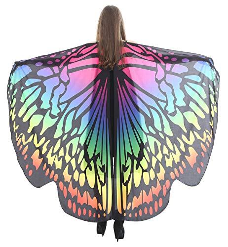 Dancing Party Costume Top Large Butterfly Wings Shawl
