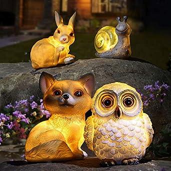 eule belupai Solarleuchte Gartenleuchte Ornament Dekoration Outdoor Feature Lampe A4