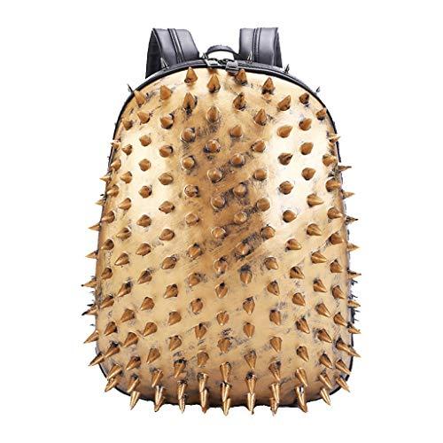 Capacità E Donna Personalità Dxqi Pu Hedgehog Uomo Grande Oro Spalla Portatile Zaino 3d Computer Bag Borsa Tote vwtvR