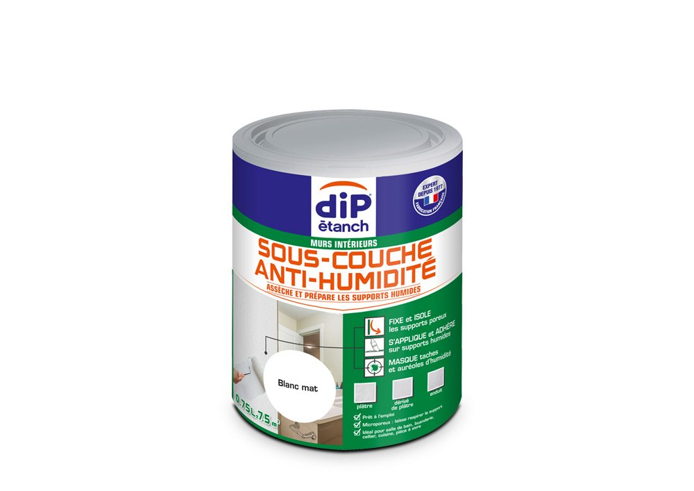 Sous-couche Anti-Humidité , Dip é tanch - Blanc Mat, 2,5L Dip étanch - Blanc Mat PPG 343356