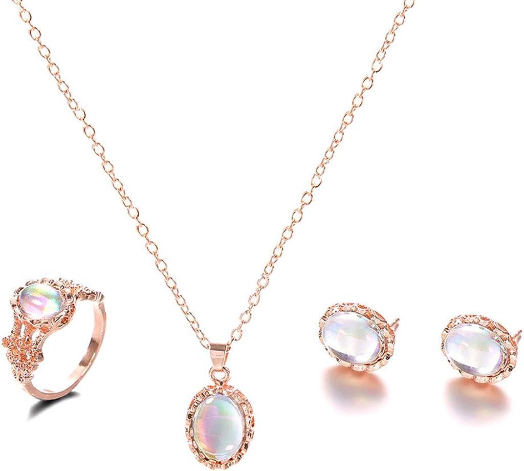 Luxe Femmes Fleur Strass Cristal Bijoux Set Boucle d/'oreille Collier Pendentif