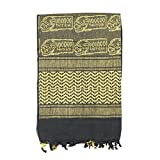 Mil-Spec Adventure Gear Plus MSA08-3065017000 Woven Coalition Voodoo Skull Desert Scarves, Black/Yellow