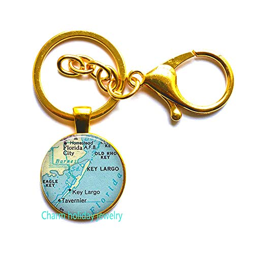 Columbus,Ohio Key Ring Columbus map Keychain,Columbus map Key Ring,Columbus Keychain.D0107 (Gold)]()