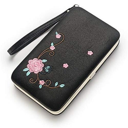 Fashion Women Lady PU Leather Clutch Wallet Long Card Holder Purse Handbag (Color - Black)