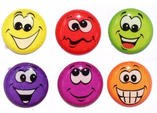 Goofy Funny Smiley Faces Emoticons Home Button Stickers for iPhone 5 4/4s 3GS 3G, iPad 2, iPad Mini, iTouch 6 Pieces
