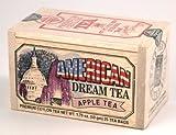 American Dream Apple Flavored Ceylon Black Tea, 25 Bags in Decorative Wood Crate - SALE