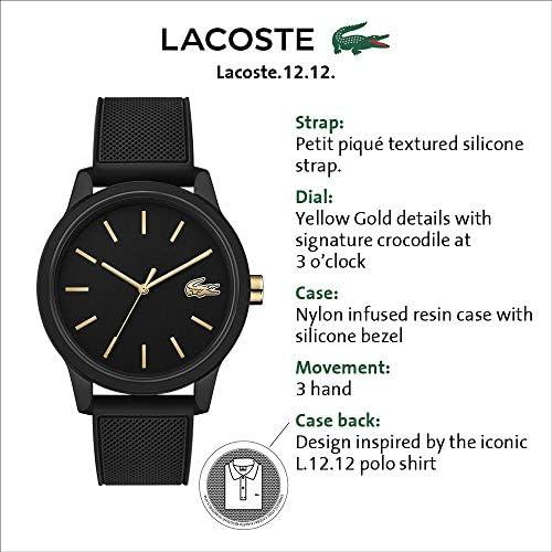 Lacoste Men's TR90 Japanese Quartz Watch with Rubber Strap, Black, 19.5 (Model: 2011010) 5