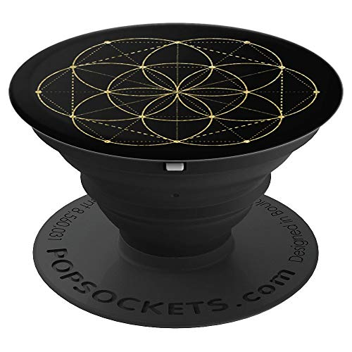 Sacred Geometry Seed of Life Symbol Gift - PopSockets Grip and Stand for Phones and Tablets