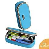 Kids Goods Best Deals - Homecube Magic Good Design Big Capacity Pencil Case Pencil Holder Practical Students Stationery (Blue)