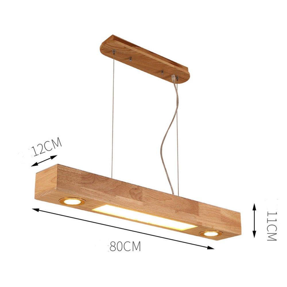 Zmh Led Pendelleuchte Esszimmer Aus Holz Hangelleuchte Esstisch