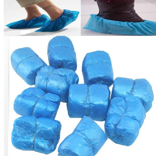 hot!100 PCS Disposable convenient shoe covers overshoes floor protectors carpet protection sweettown