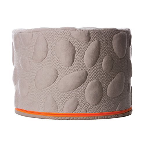Nook Sleep Systems Soft Organic Pebble Pouf with Liquid-Resistant Wrap Cover (Misty) by Nook Sleep Systems