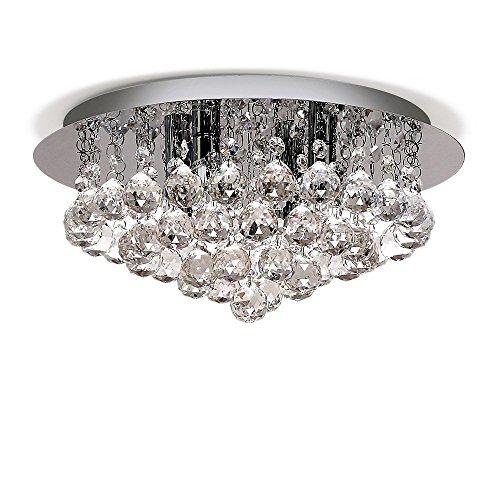 Lightess Chandelier Lighting Flush Mount Crystal Ceiling Light 4-Light Modern Light Fixtures for Dining Room, DY-A8 - Modern Four Light Crystal