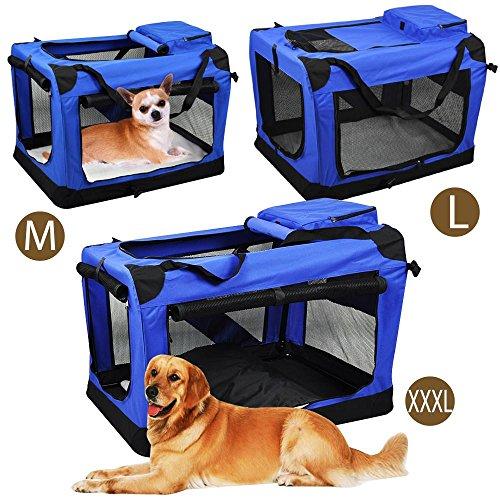 [해외]애완 동물 실내 및 실외용 스트랩 용 접이식 지퍼 개 연약한 상자 개집/go2buy Folding Zippered Dog Soft Crate Kennel for Pet Indoor&Outdoor Use with Straps